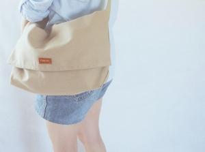minimalist sling bag khaki