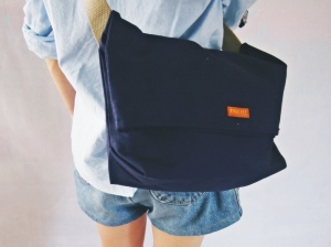 minimalist sling bag navy