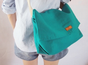 minimalist sling bag teal