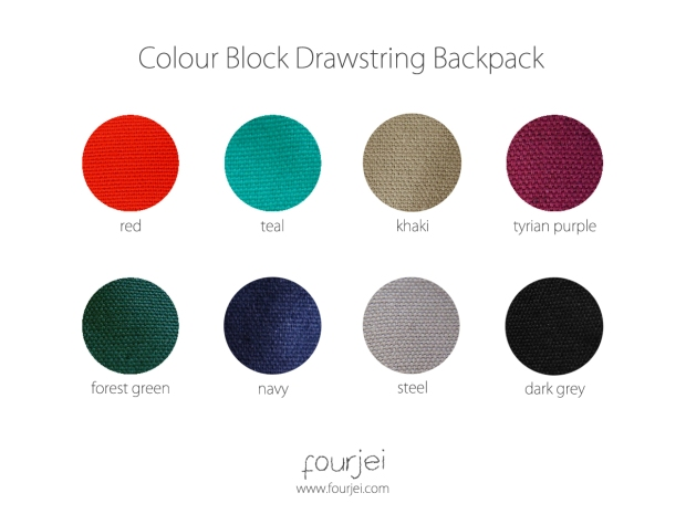 Colour Block Drawstring Backpack Palette