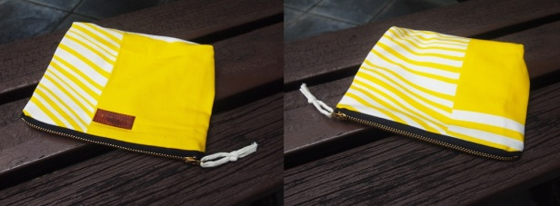 DIANE Pouch - Yellow laser 3 (SOLD)