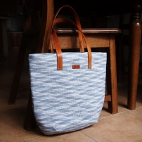 Studio Tote - ikat light grey (SOLD OUT)
