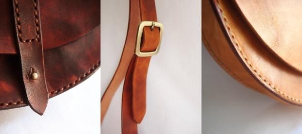 Anne Half Round Leather Bag - Details