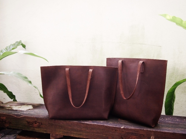 Nubuck Buffalo Leather Tote