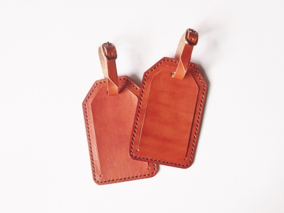 Luggage Tag - Tan Brown