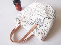 Studio Tote Mini - White Foliage