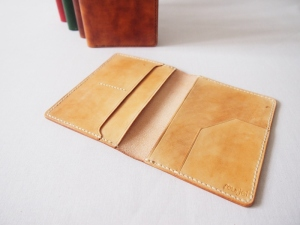 Leather Passport Holder - Light Brown (last unit from previous batch)