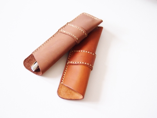 Pen Holder - Brown and Cognac (Patched)