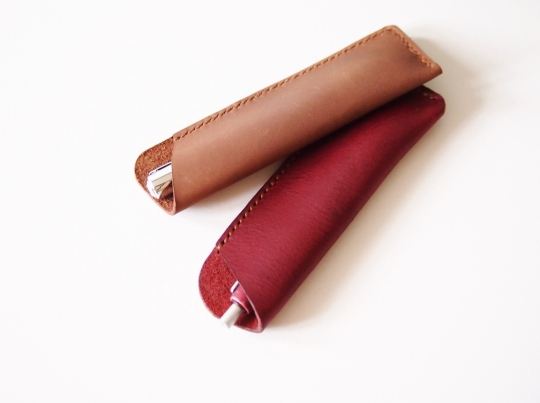 Pen Holder - Brown and Burgundy (Plain)