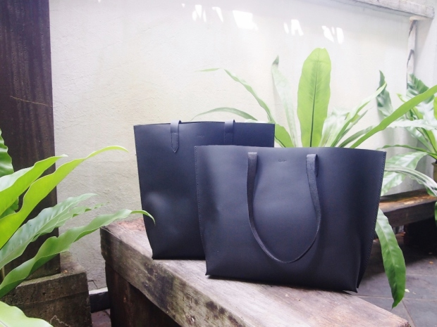 Leather Tote - Jet Black