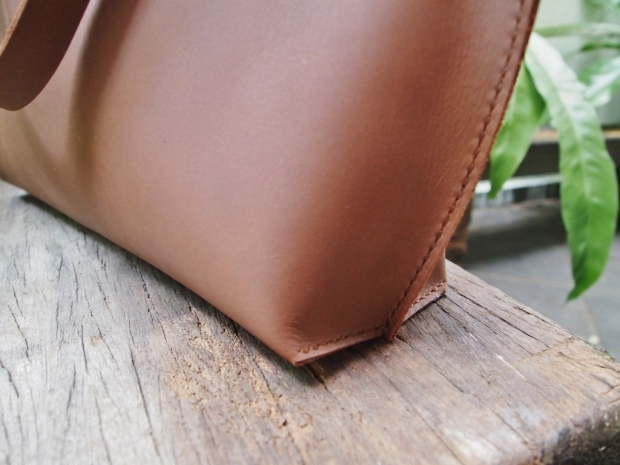 Leather Tote - Brown