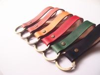 Leather Key Holder (brass ring)