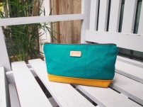 Colour-block Diane Pouch - Peacock-Mustard