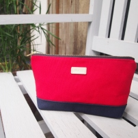 Colour-block Diane Pouch - Red-Navy