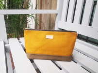 Colour-block Diane Pouch - Mustard-Olive