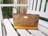 Colour-block Diane Pouch - Olive-Mustard