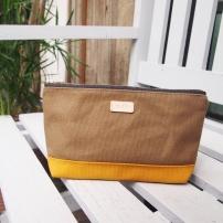 Colour-block Diane Pouch - Olive-Mustard