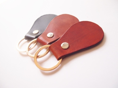 Pear Shaped Key Holder (gold ring)