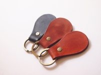 Pear Shaped Key Holder (brass ring)
