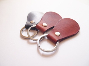 Pear Shaped Key Holder (silver ring)