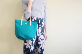 Studio Tote Mini - peacock
