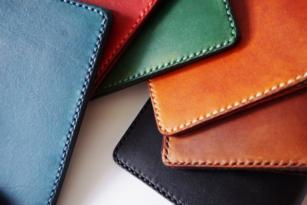 Leather Passport Holder - Assorted colours