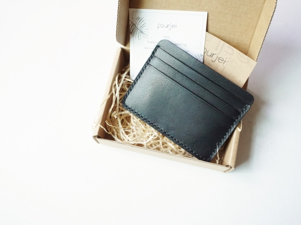 Card Holder Wallet - Black (Gift box)