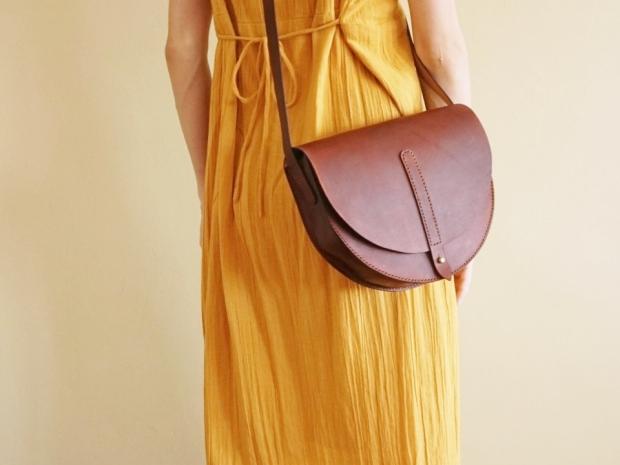 Half Moon Bag - Medium Brown