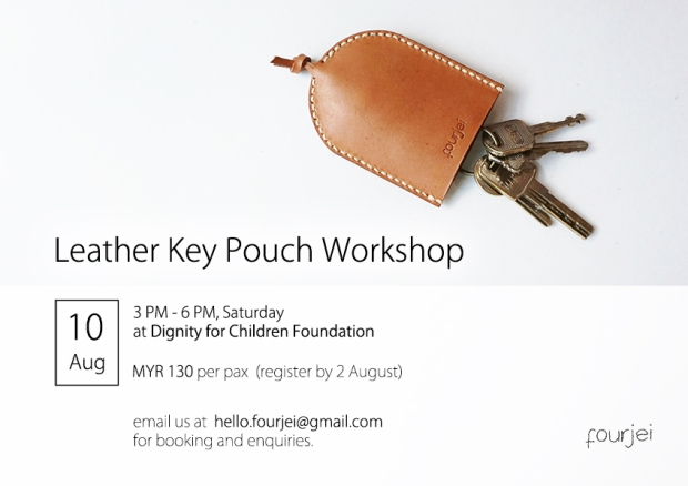 Workshop Poster - 10 Aug - Key Pouch