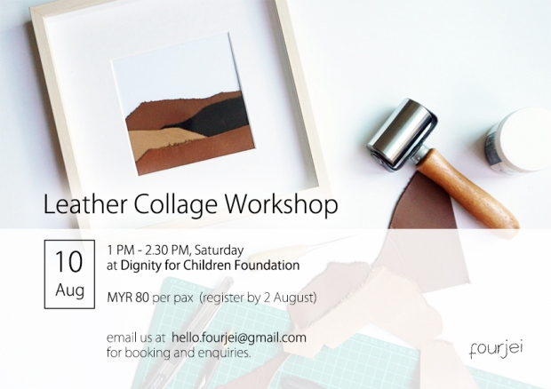 Workshop Poster - 10 Aug - Leather Collage