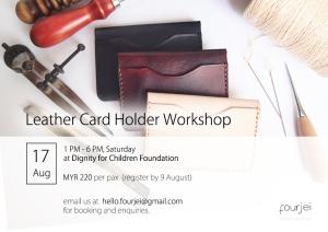 Workshop Poster - 17 Aug - Card Holder